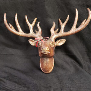 Deer Head with bow wall hanging