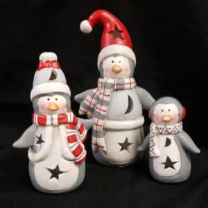 Ceramic Penguin Family