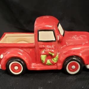Ceramic Red Truck