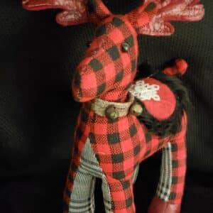 Red & Black Checkered Reindeer