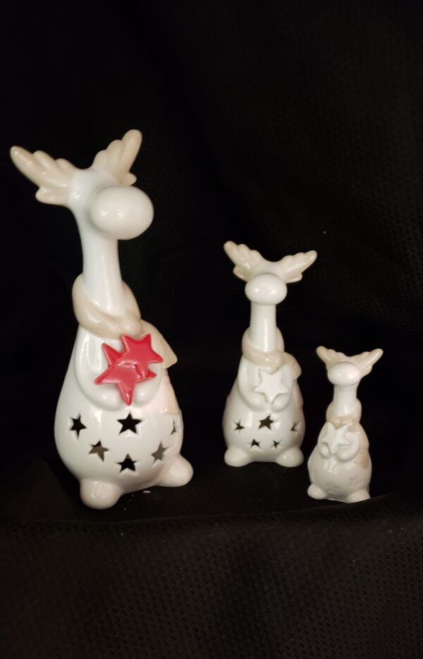 Ceramic Light Up Moose Family